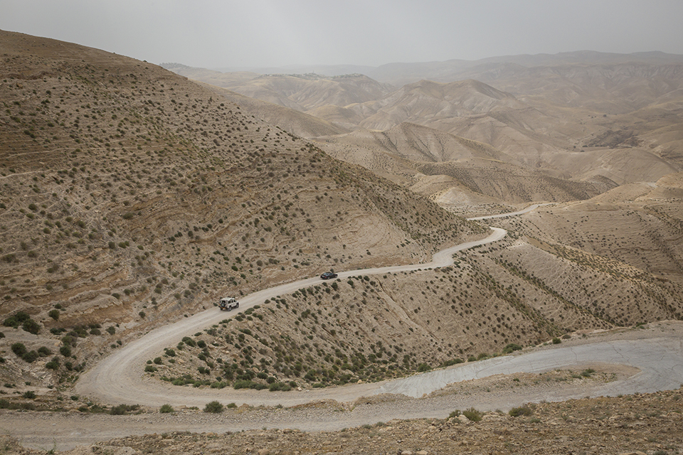 Wadi Qelt looking northwest near Old Jericho Road